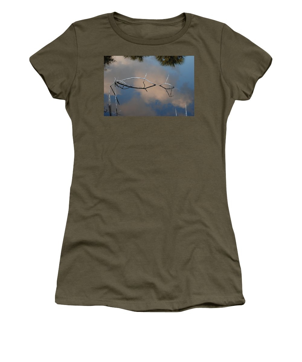 Pink Women's T-Shirt featuring the photograph Natures Bridge In Color by Rob Hans