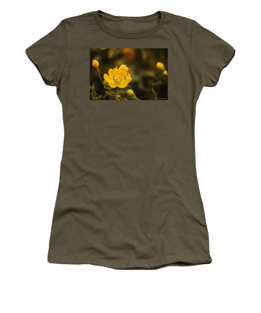 Flower Photography Women's T-Shirt featuring the photograph Natures Colours 001 by Kevin Chippindall