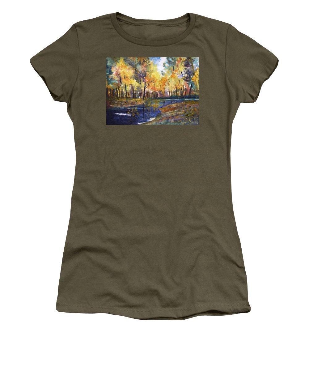 Ryan Radke Women's T-Shirt featuring the painting Nature's Glory by Ryan Radke
