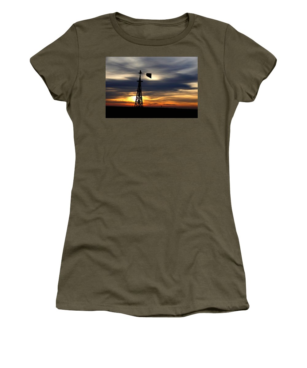 Announcement Women's T-Shirt featuring the painting Nearing The End H B by Gert J Rheeders