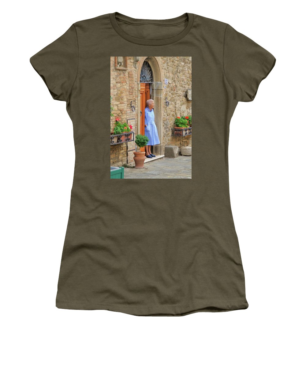 Italy Women's T-Shirt featuring the photograph Neighborhood Watch by Jim Benest