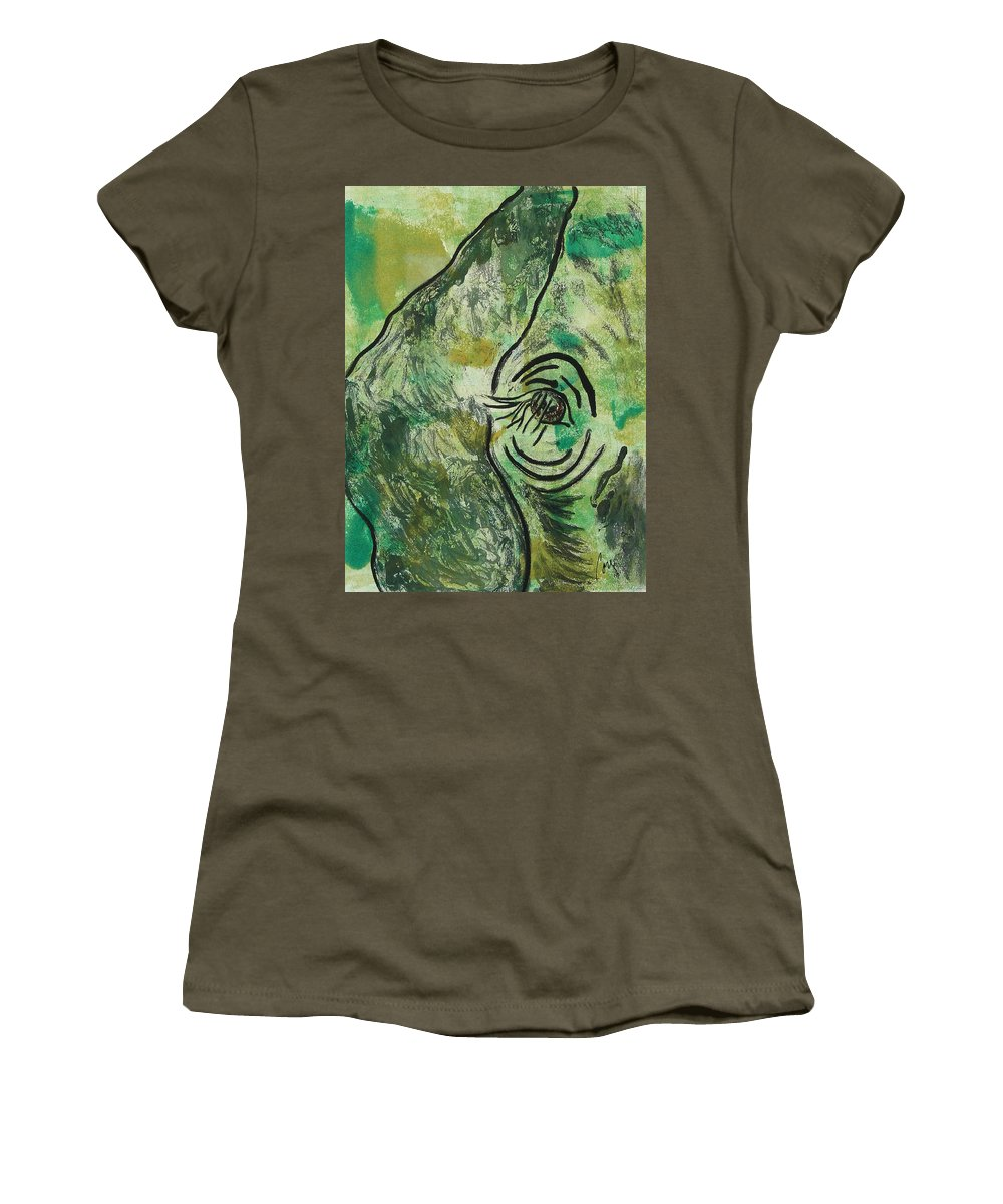 Monotype Women's T-Shirt featuring the mixed media Never Forgotten by Cori Solomon