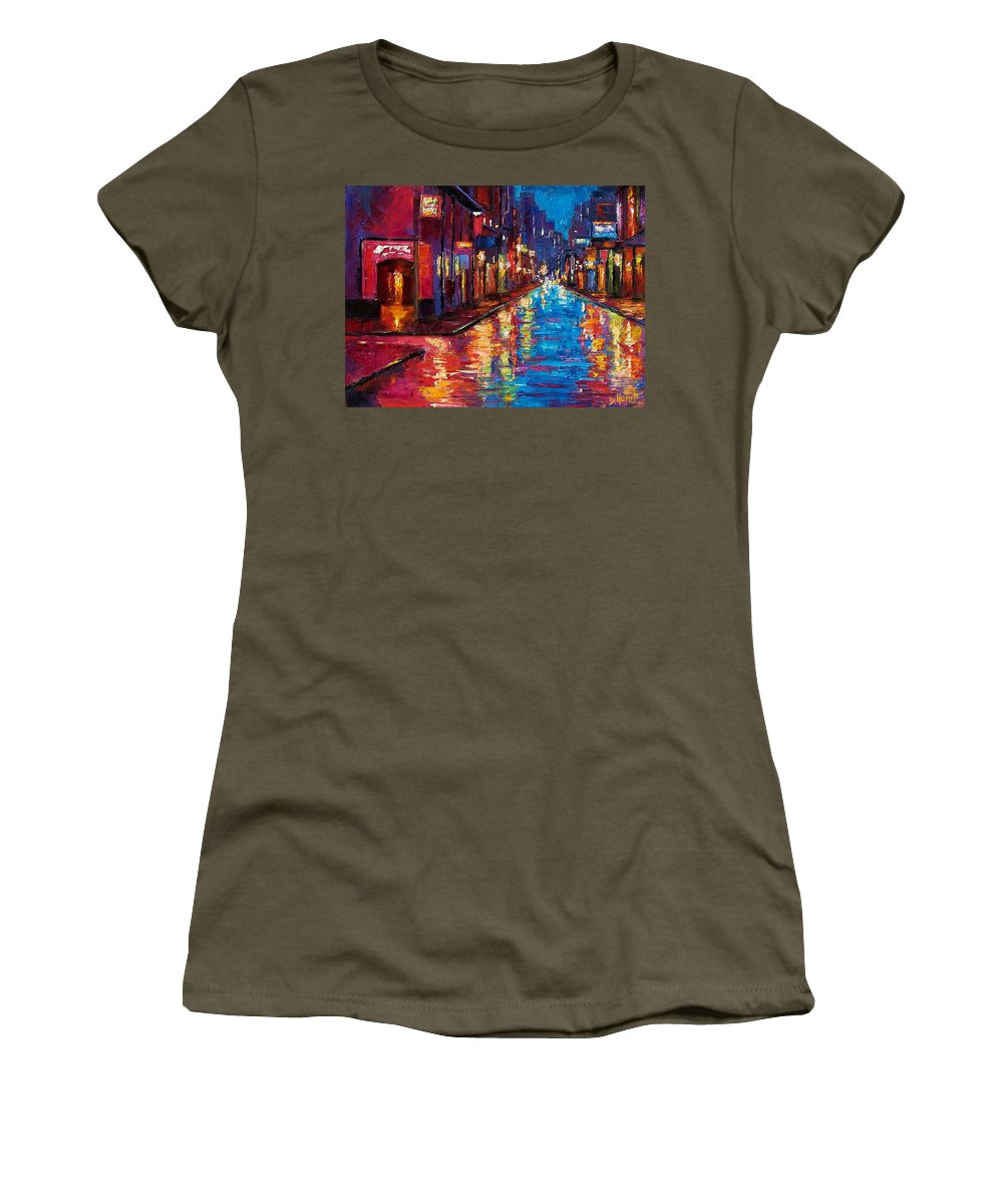 New Orleans Women's T-Shirt (Athletic Fit) featuring the painting New Orleans Magic by Debra Hurd