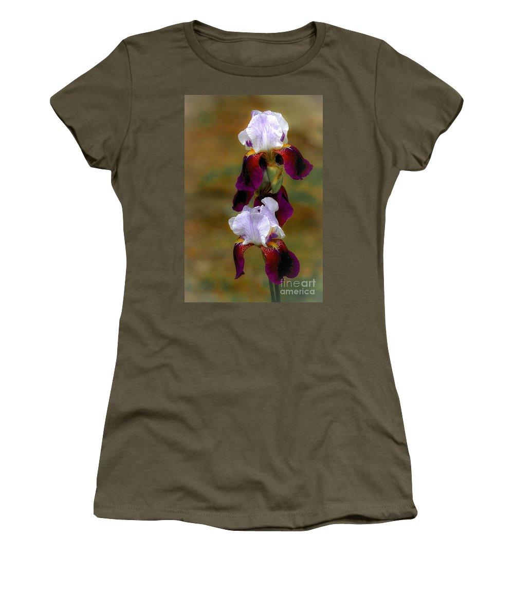 Iris Women's T-Shirt (Athletic Fit) featuring the photograph Nita's Iris by Susan Grube