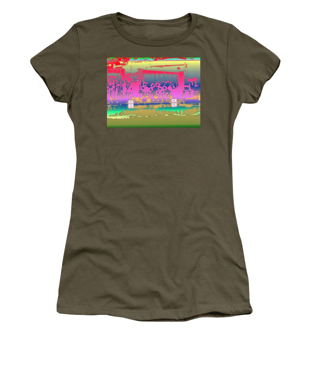 Seattle Women's T-Shirt featuring the photograph No Parking Anytime by Tim Allen