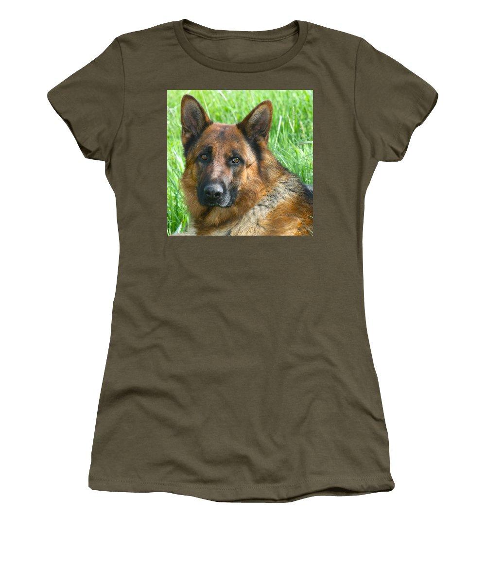 Dog Women's T-Shirt featuring the photograph Nobility by Karon Melillo DeVega