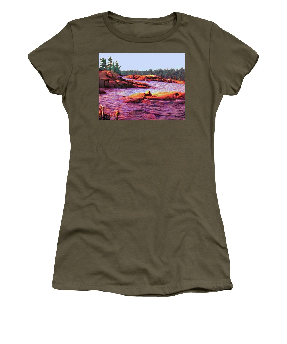 Wilderness Women's T-Shirt featuring the digital art North Channel Islands by Ian MacDonald
