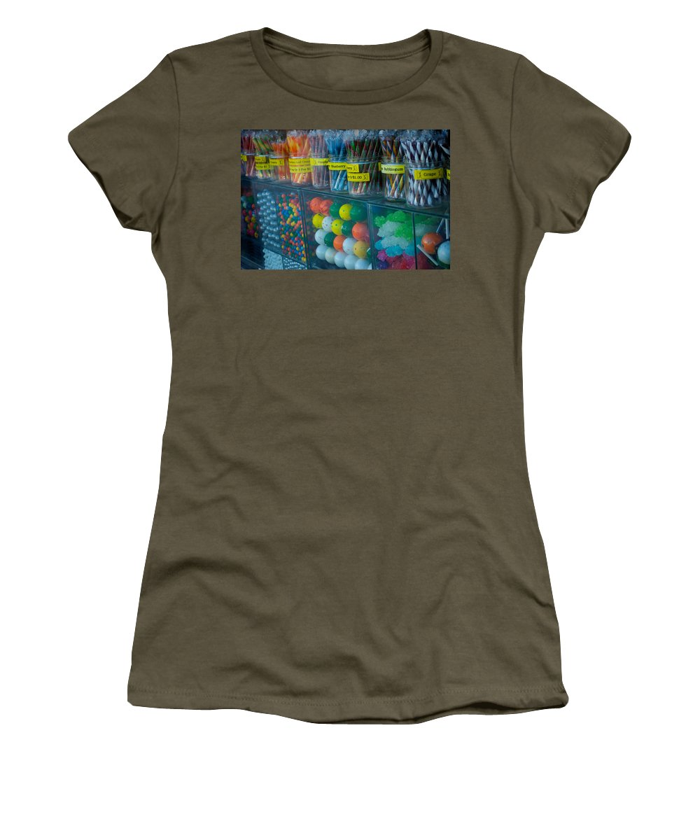 Candy Women's T-Shirt (Athletic Fit) featuring the photograph Nose Pressed Against The Glass by Lisa Knechtel