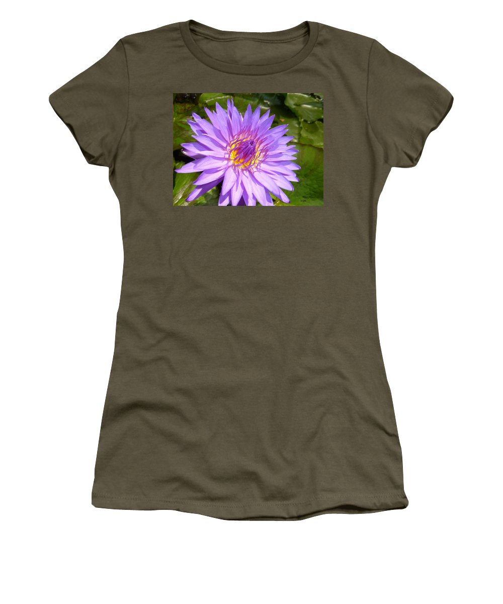 Flower Photograph Women's T-Shirt featuring the photograph Purple Smiles by Michele Penn