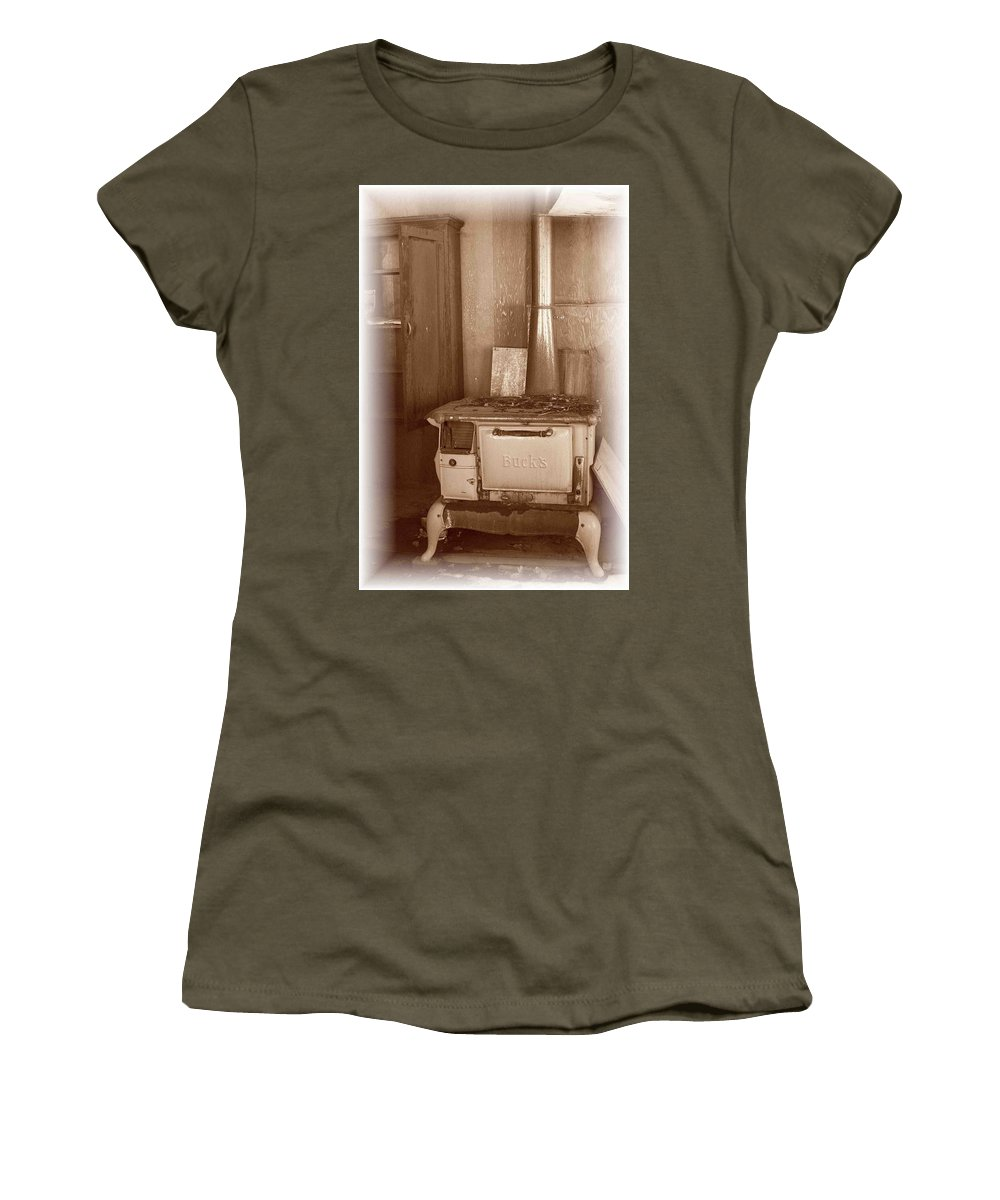 Stove Women's T-Shirt featuring the photograph Not Much Cookin - Unionville Nv by Nelson Strong
