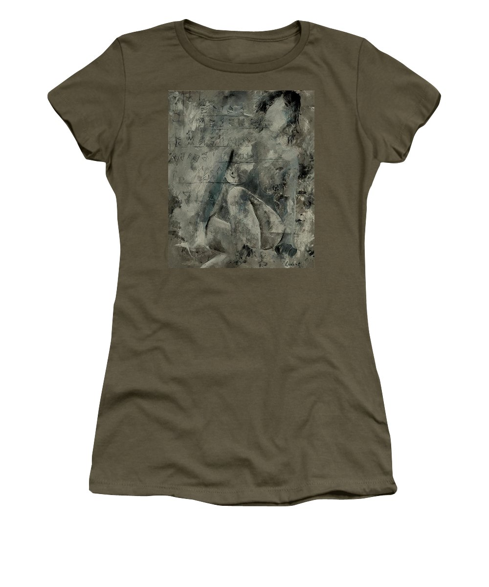 Nude Women's T-Shirt featuring the painting Nude 560845 by Pol Ledent