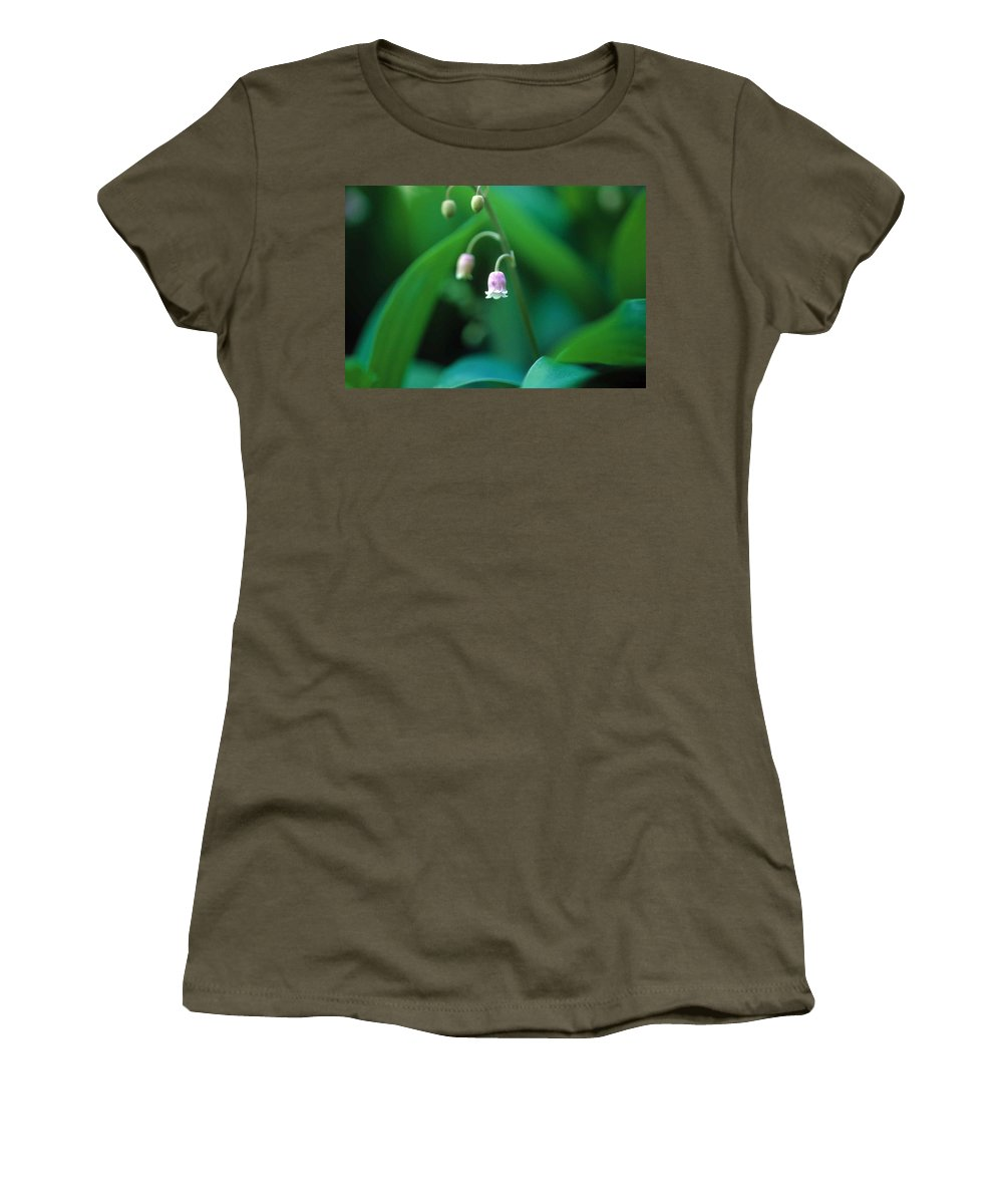 Lilly Of The Valley Women's T-Shirt (Athletic Fit) featuring the photograph Nurys Lilly by Laurie Paci