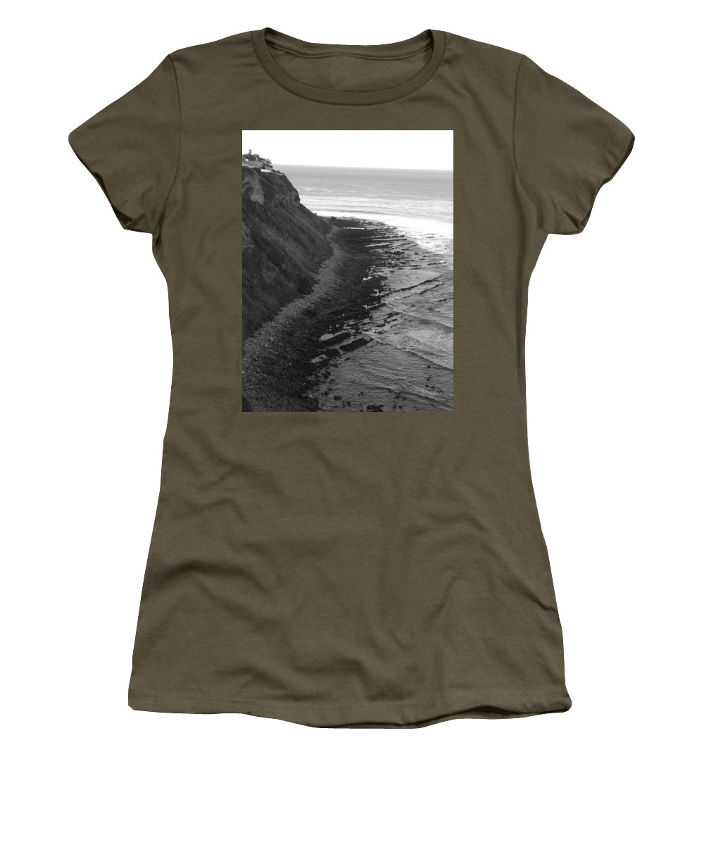 Beaches Women's T-Shirt (Athletic Fit) featuring the photograph Oceans Edge by Shari Chavira