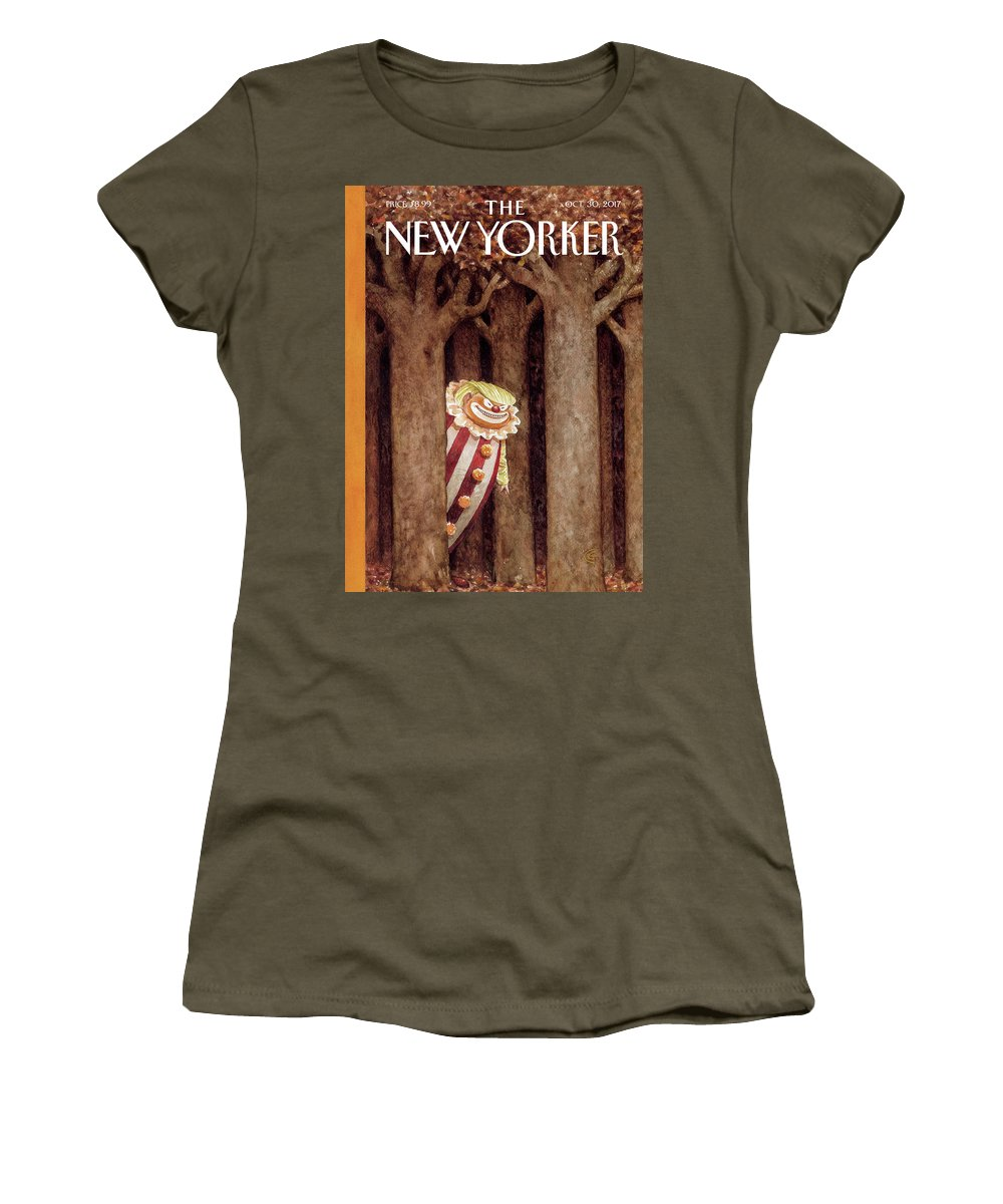 October Surprise Women's T-Shirt featuring the drawing October Surprise by Carter Goodrich