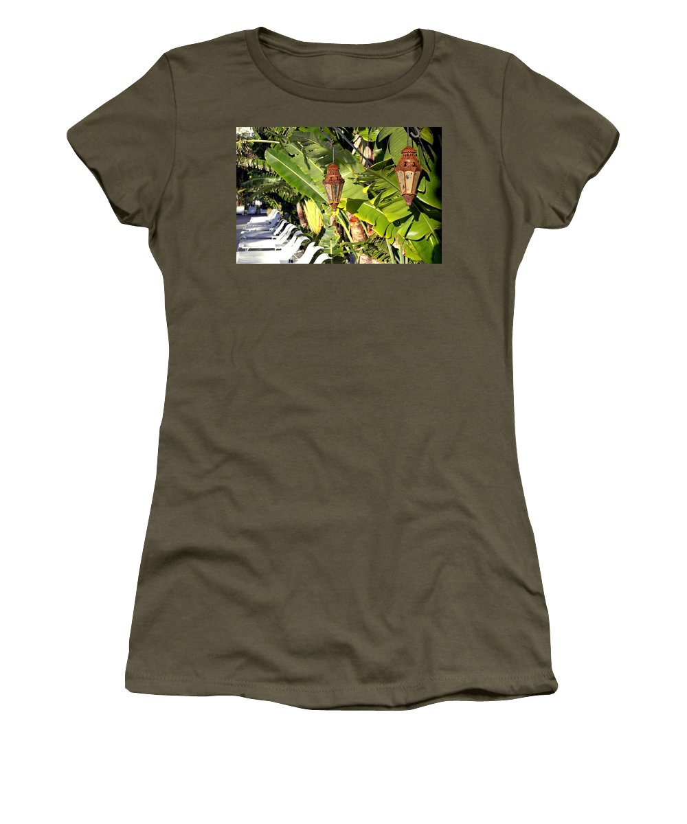 Florida Women's T-Shirt featuring the photograph Of Lanterns And Lawn Chairs by Dale Chapel