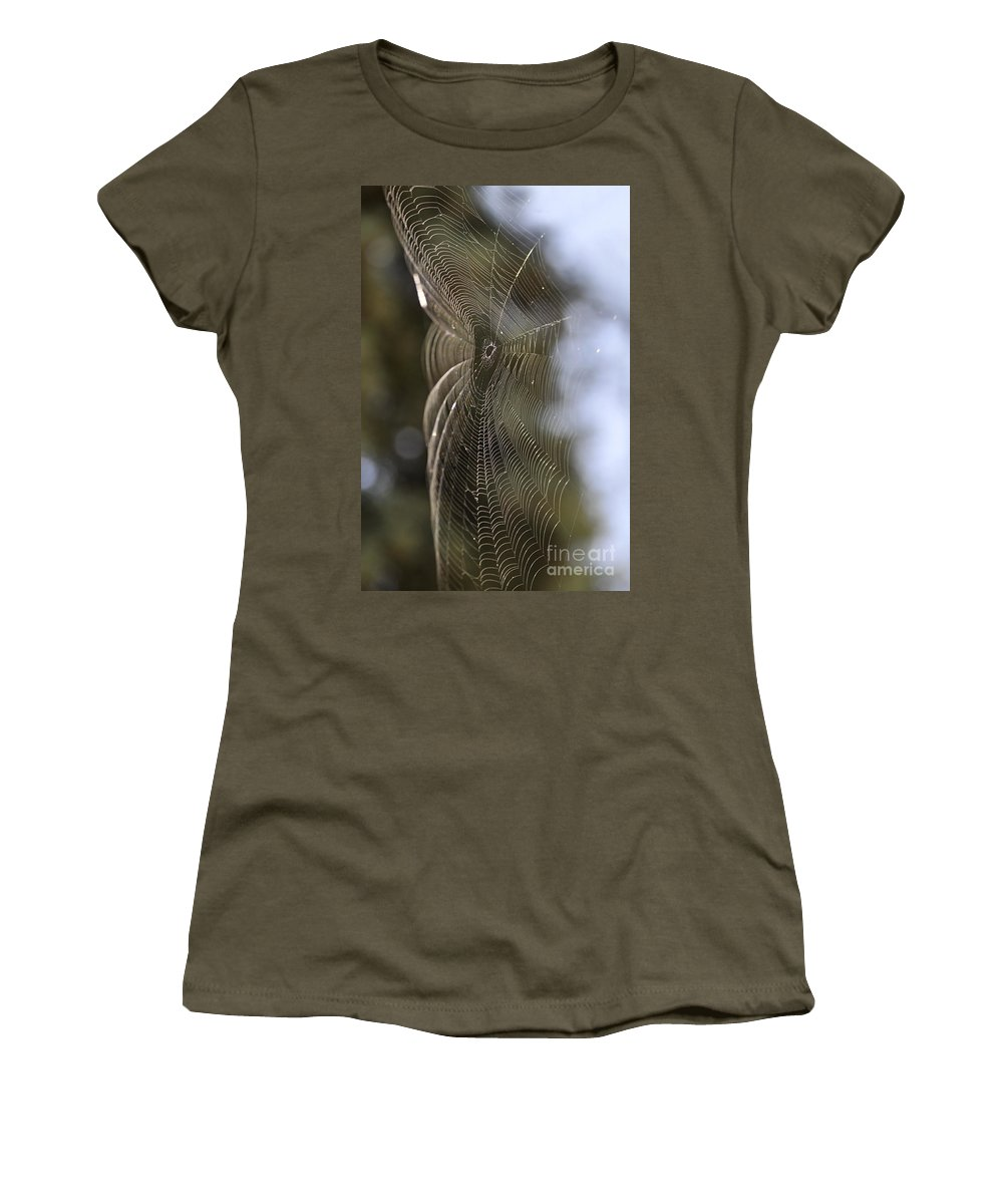 Clay Women's T-Shirt featuring the photograph Oh What Webs We Weave by Clayton Bruster
