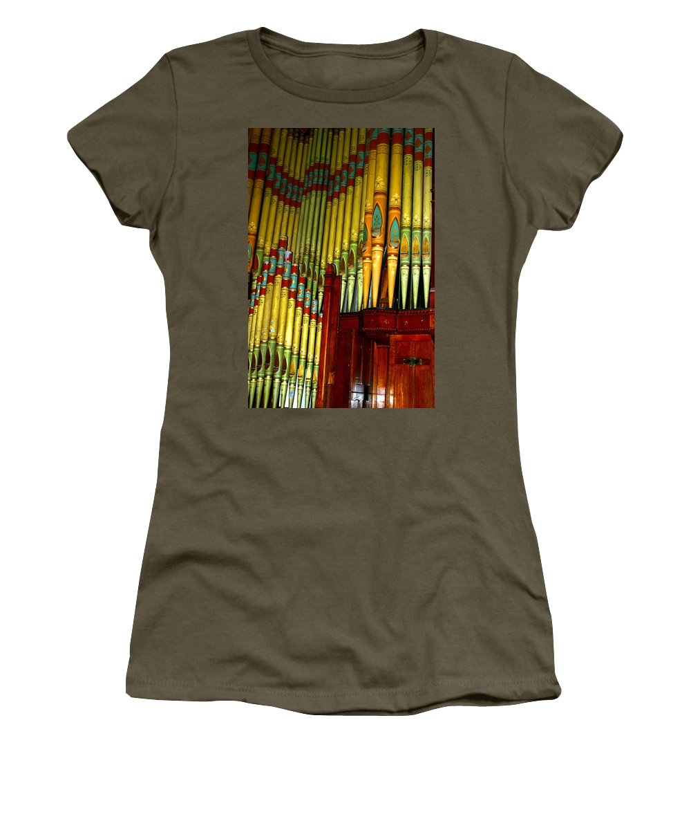 Organ Women's T-Shirt (Athletic Fit) featuring the photograph Old Church Organ by Anthony Jones
