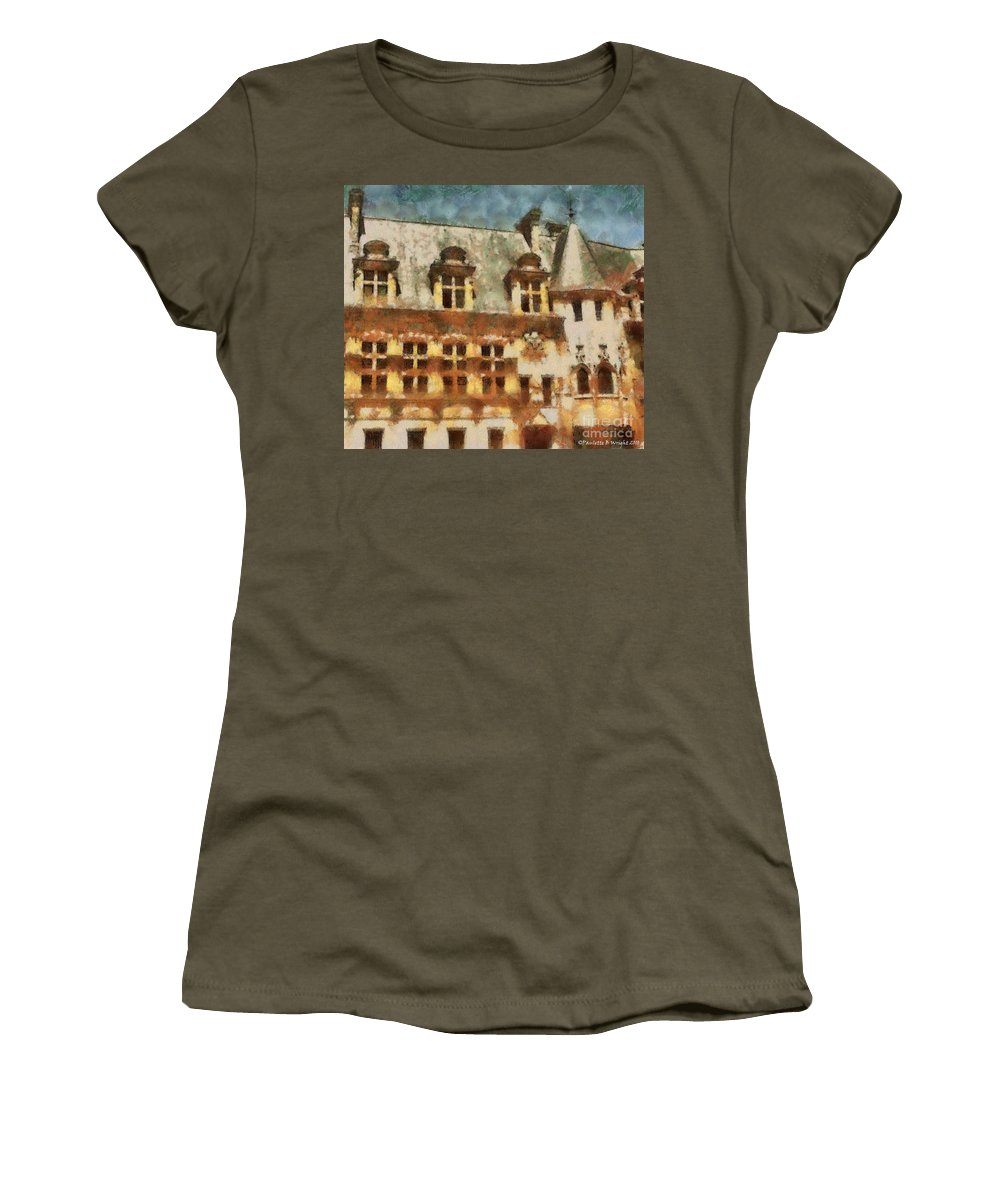 France Women's T-Shirt (Athletic Fit) featuring the painting Old World by Paulette B Wright