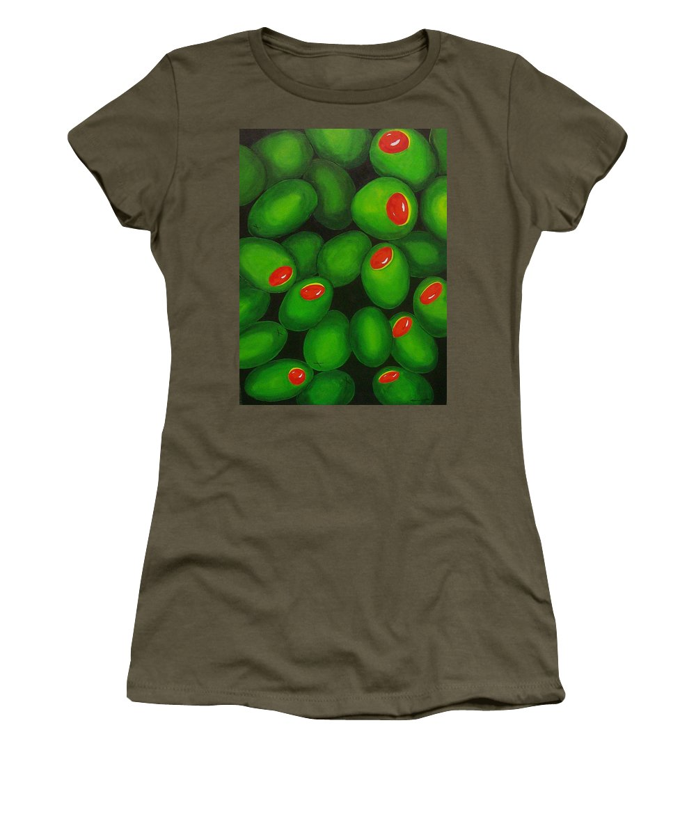 Olive Women's T-Shirt featuring the painting Olives by Micah Guenther