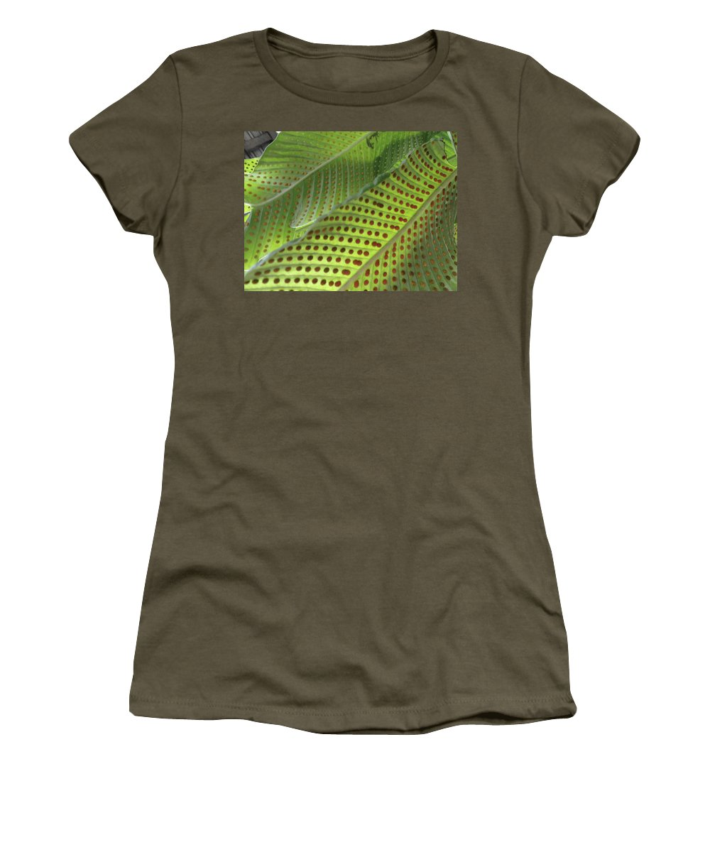 Tropical Plants Women's T-Shirt featuring the photograph On The Dotted Lines by Trish Hale