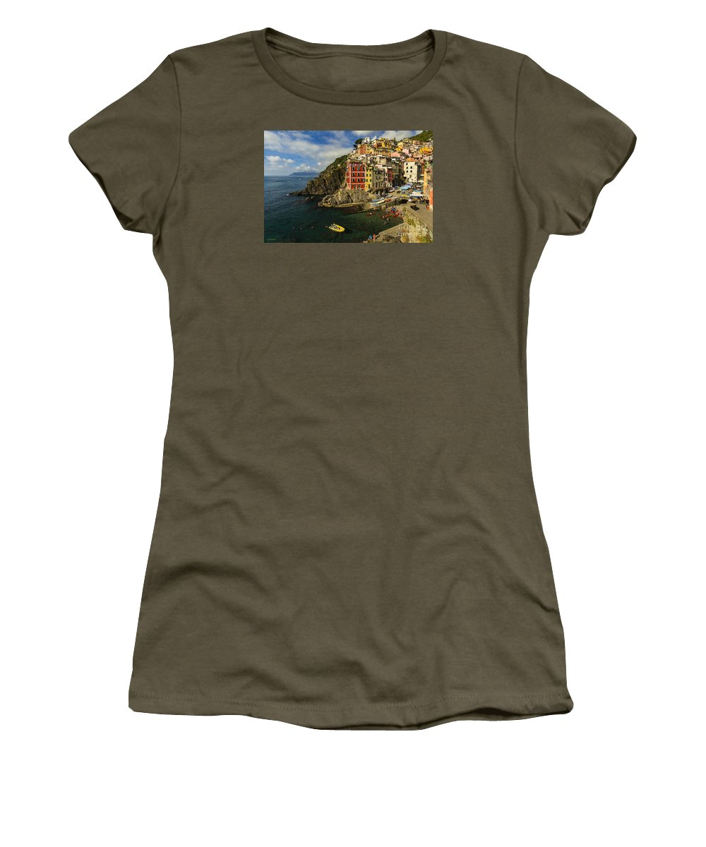 Sea Women's T-Shirt (Athletic Fit) featuring the photograph Harbor Life by Phyllis Webster