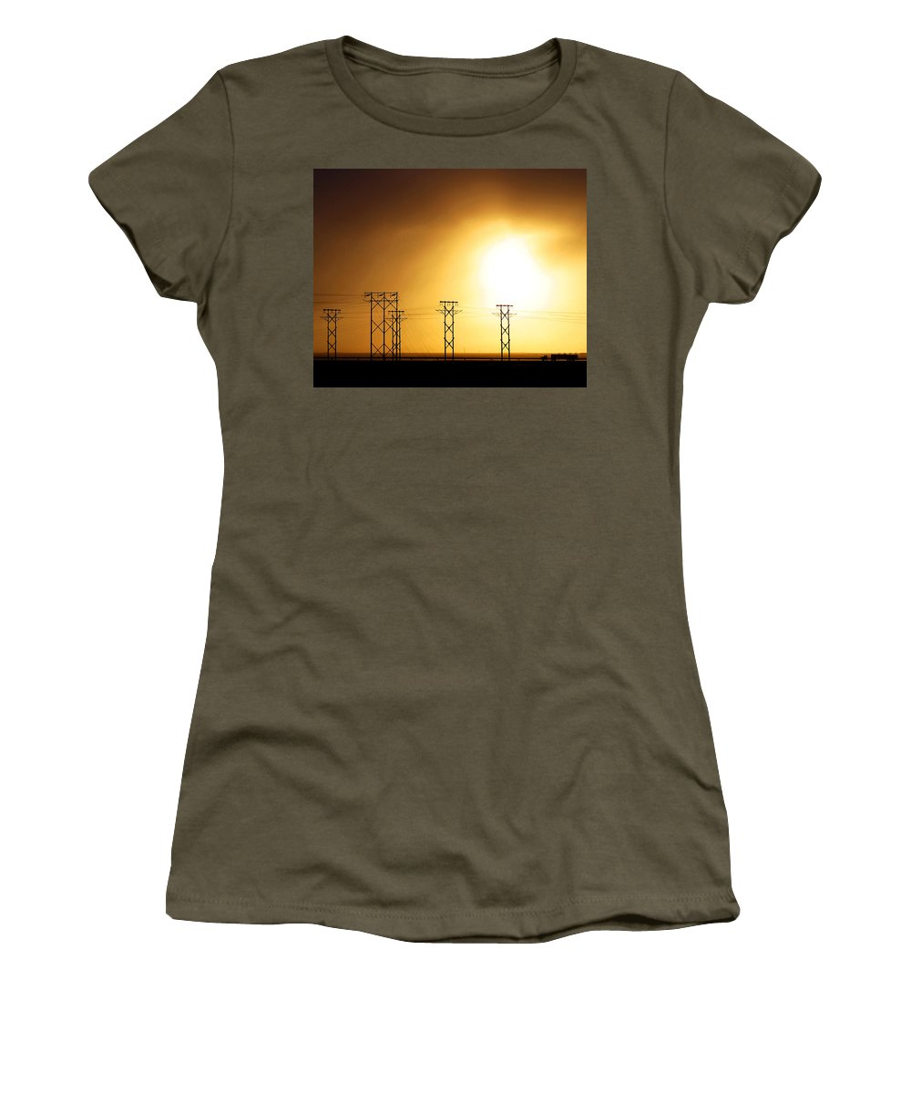 Truck Women's T-Shirt (Athletic Fit) featuring the photograph On The Road by Anthony Jones