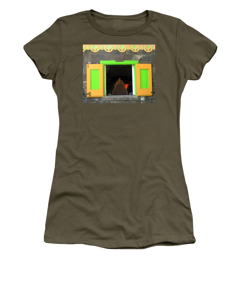 Window Women's T-Shirt featuring the photograph Open Window by Ian MacDonald