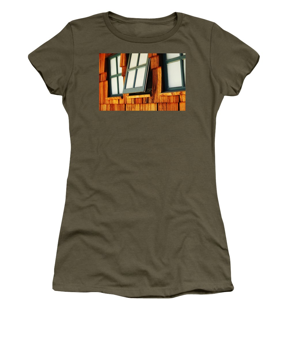 Architecture Women's T-Shirt featuring the photograph Open Window by Jill Reger