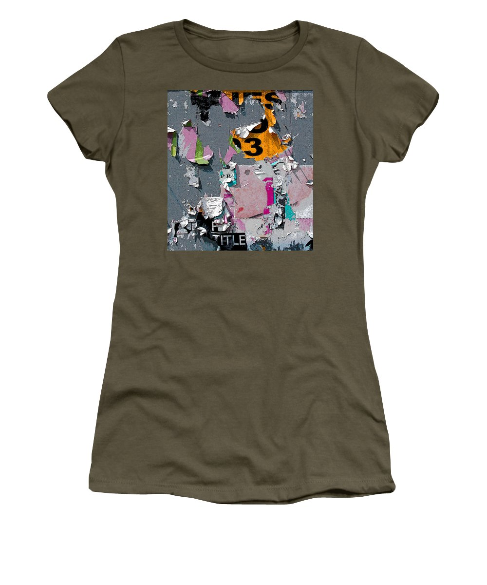 Billboard Women's T-Shirt (Athletic Fit) featuring the photograph Orange 3 by Anne Cameron Cutri