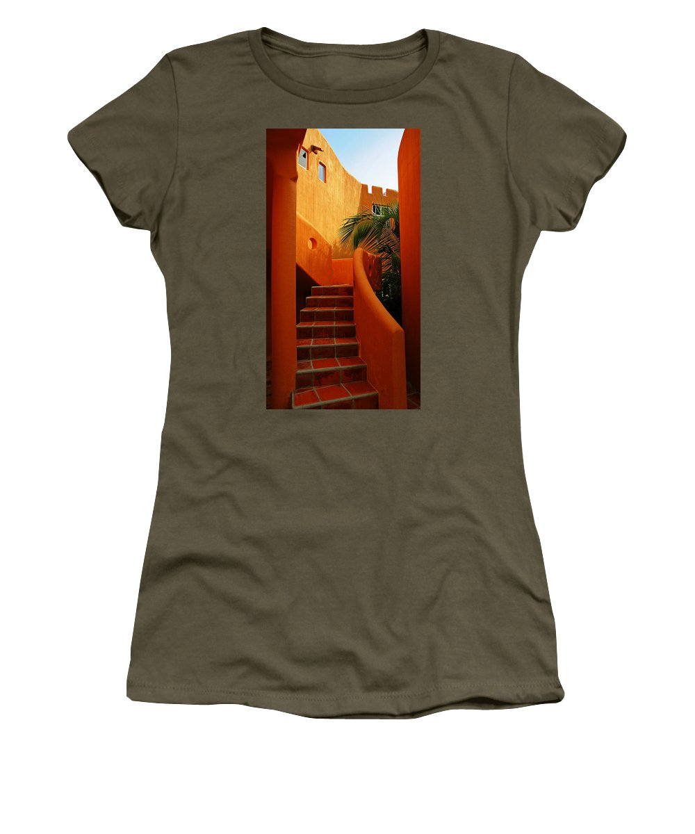 Orange Crush Women's T-Shirt (Athletic Fit) featuring the photograph Orange Crush 2 by Skip Hunt