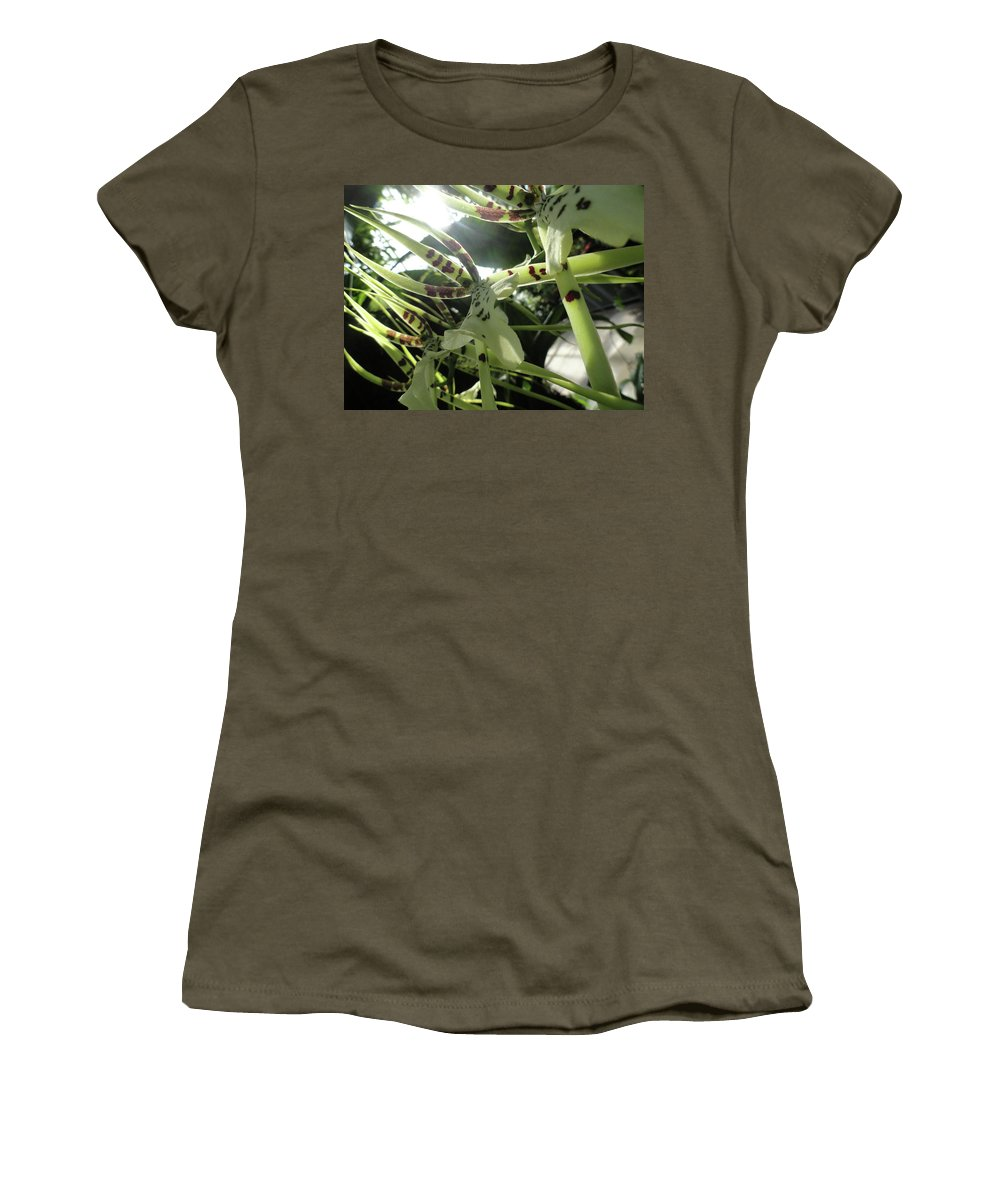Orchid Women's T-Shirt featuring the photograph Orchid Lumin by Trish Hale