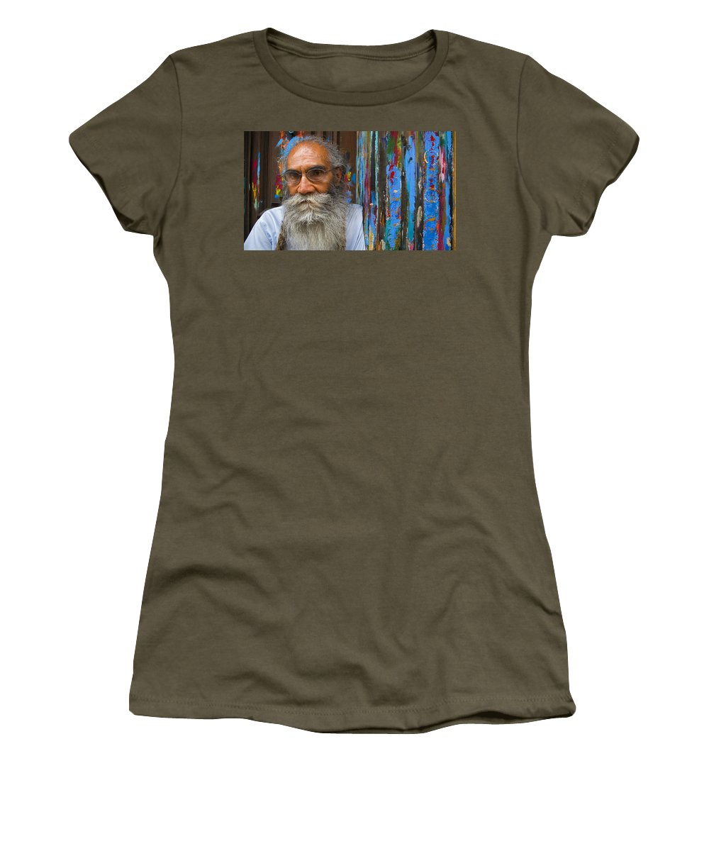 Architecture Women's T-Shirt (Athletic Fit) featuring the photograph Orizaba Painter by Skip Hunt