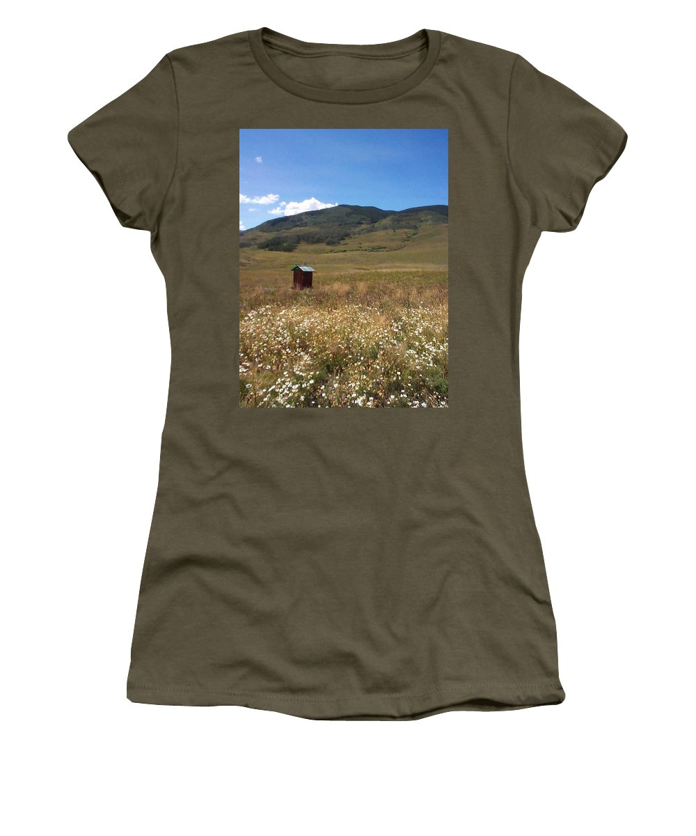 Charity Women's T-Shirt (Athletic Fit) featuring the photograph Out House by Mary-Lee Sanders