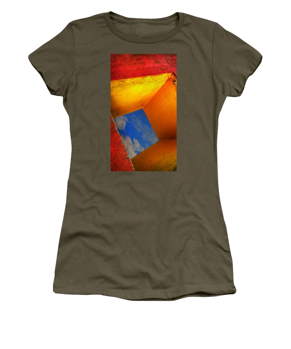 Skip Hunt Women's T-Shirt (Athletic Fit) featuring the photograph Over The Rainbow by Skip Hunt