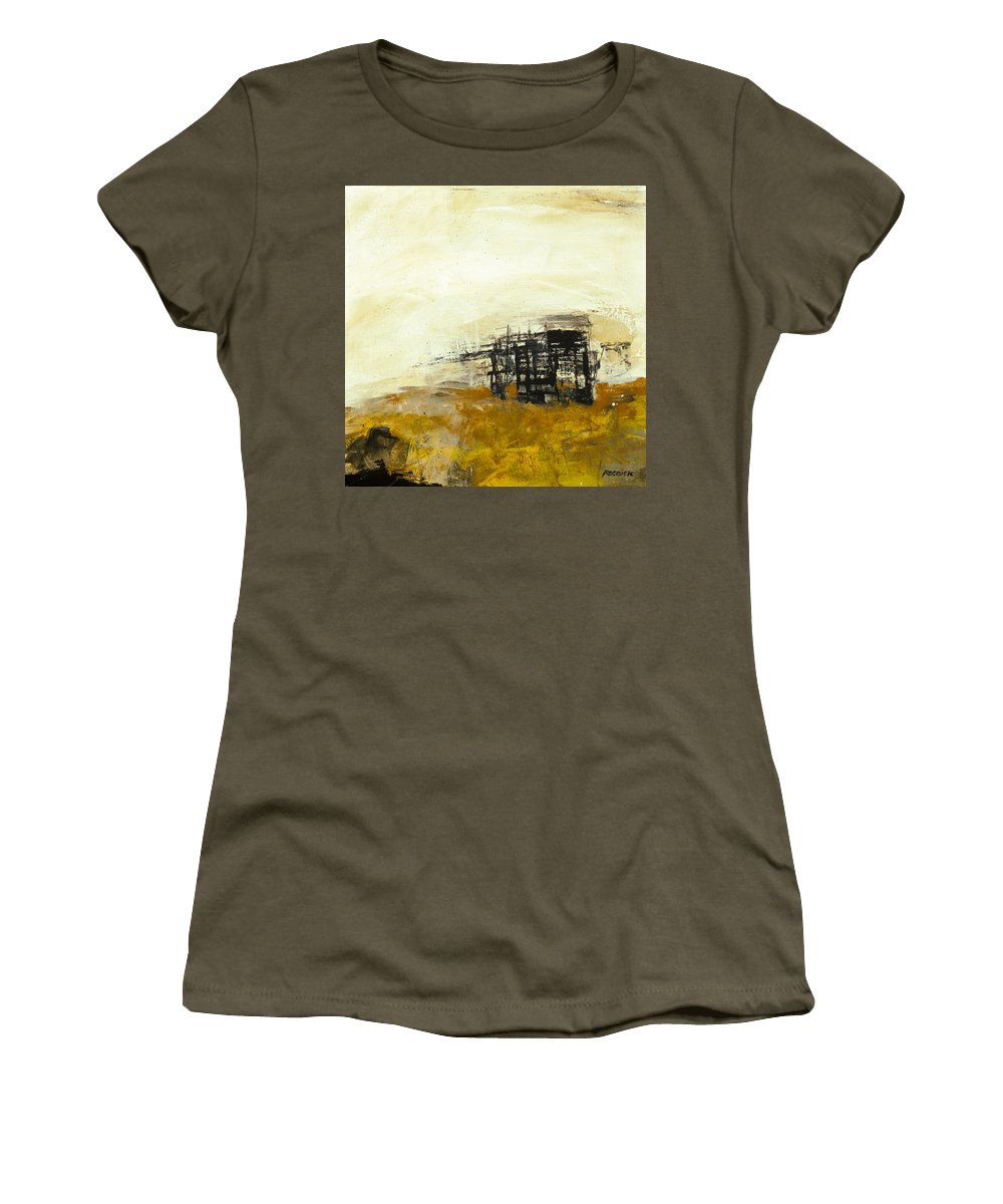 Abstract Women's T-Shirt (Athletic Fit) featuring the painting Overgrown by Gary Reddick