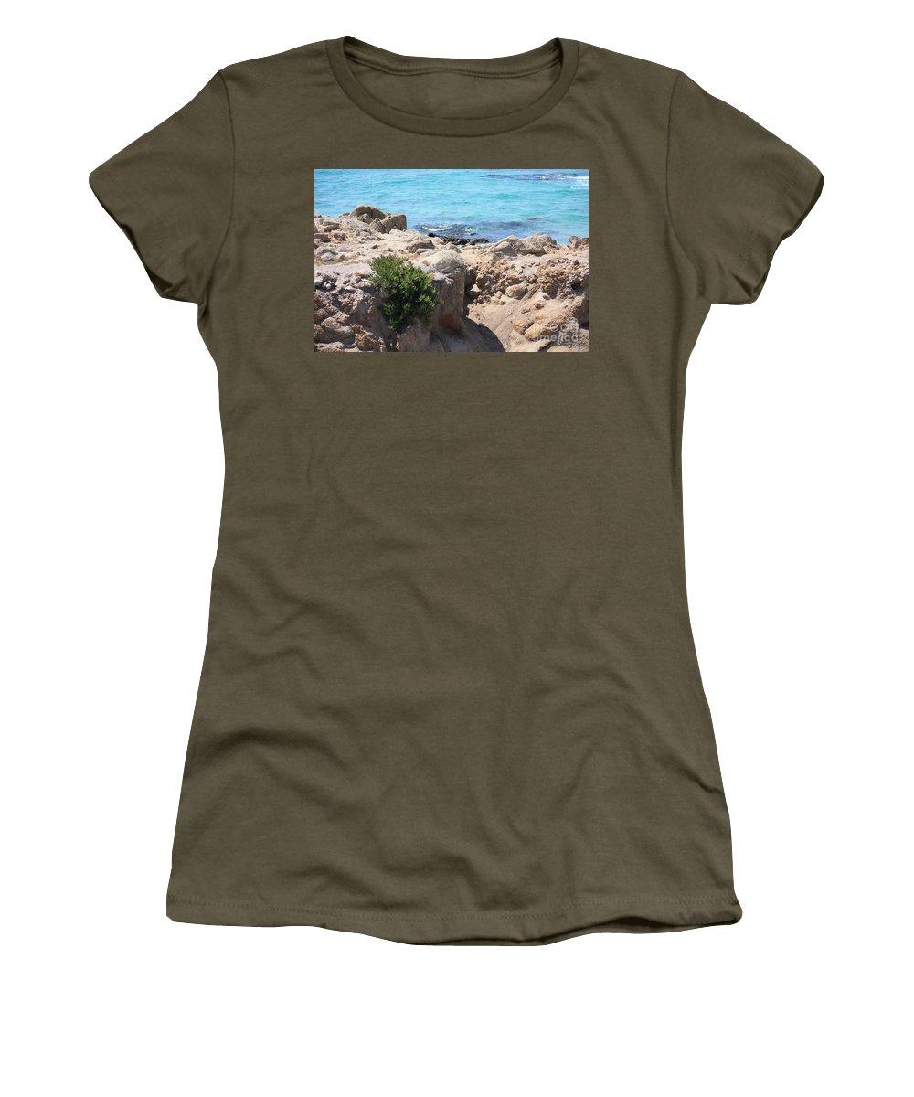 California Women's T-Shirt featuring the photograph Pacific Blue by Carol Groenen