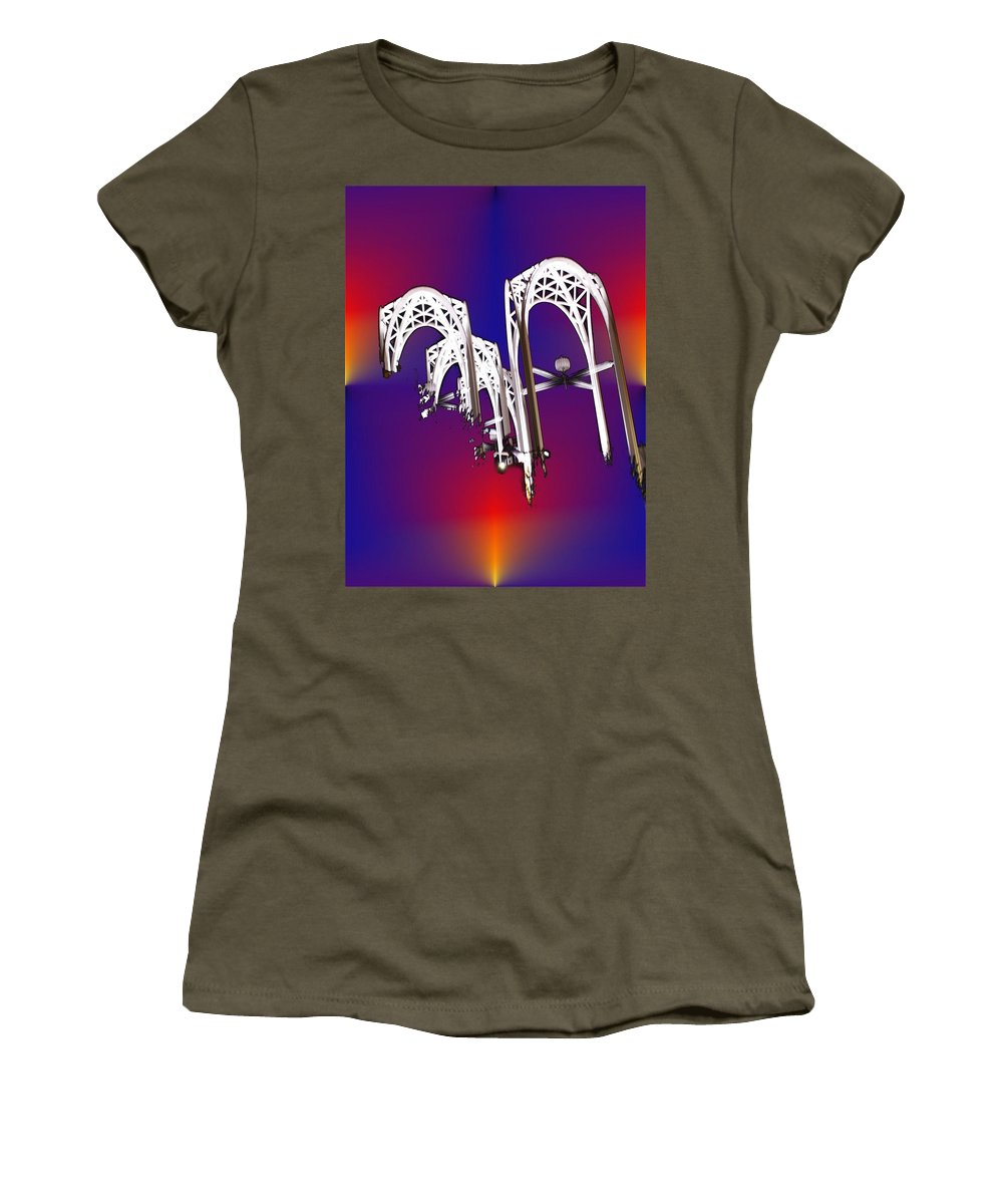 Seattle Women's T-Shirt featuring the photograph Pacific Science Center Arches by Tim Allen