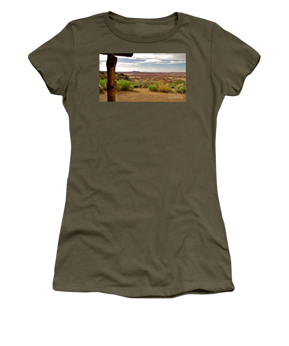 Painted Desert Women's T-Shirt featuring the photograph Painted Desert Vista by Marilyn Smith