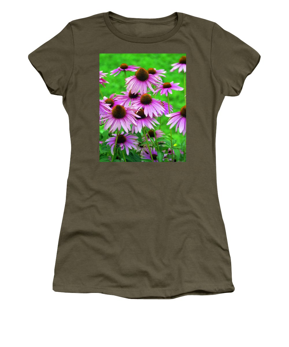 Flowers Women's T-Shirt featuring the photograph Pale Purple Coneflowers by Marty Koch