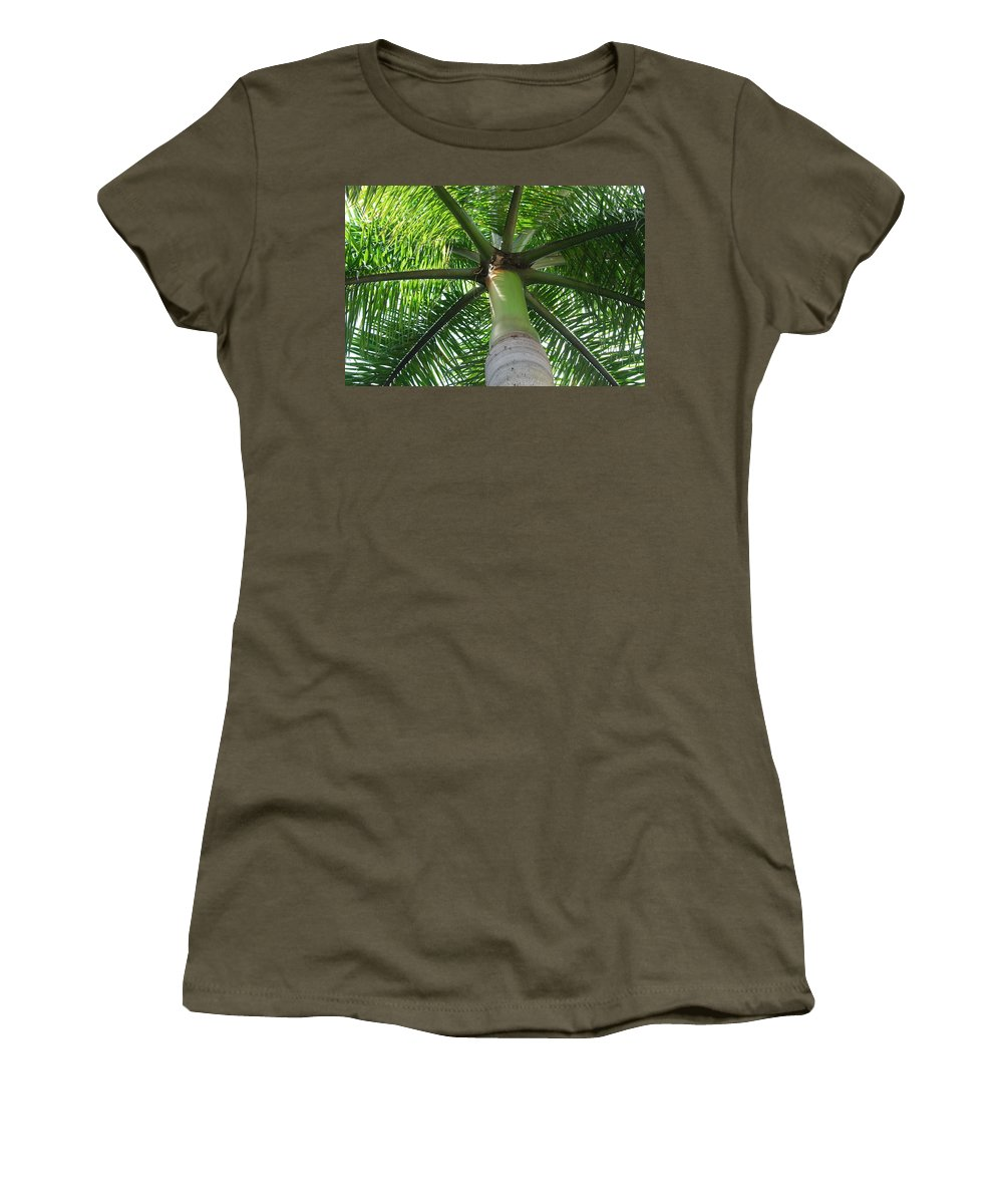 Macro Women's T-Shirt (Athletic Fit) featuring the photograph Palm Unbrella by Rob Hans