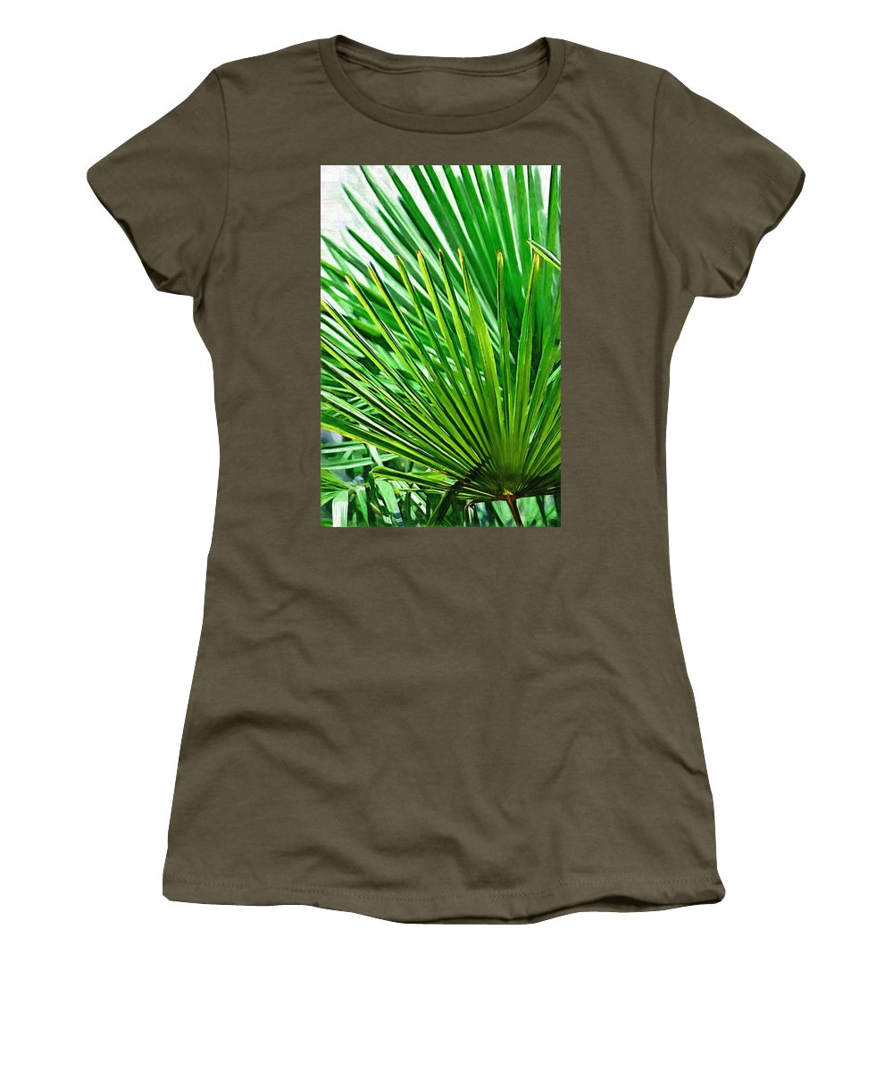 Palms Women's T-Shirt (Athletic Fit) featuring the photograph Palms 2 by Donna Bentley