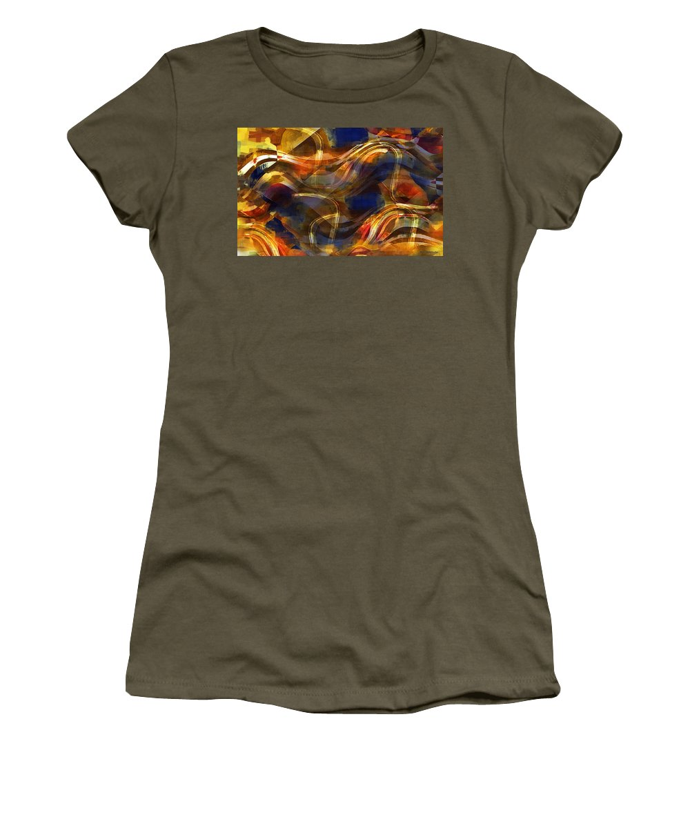 Abstract Women's T-Shirt featuring the painting Pamplona by RC DeWinter