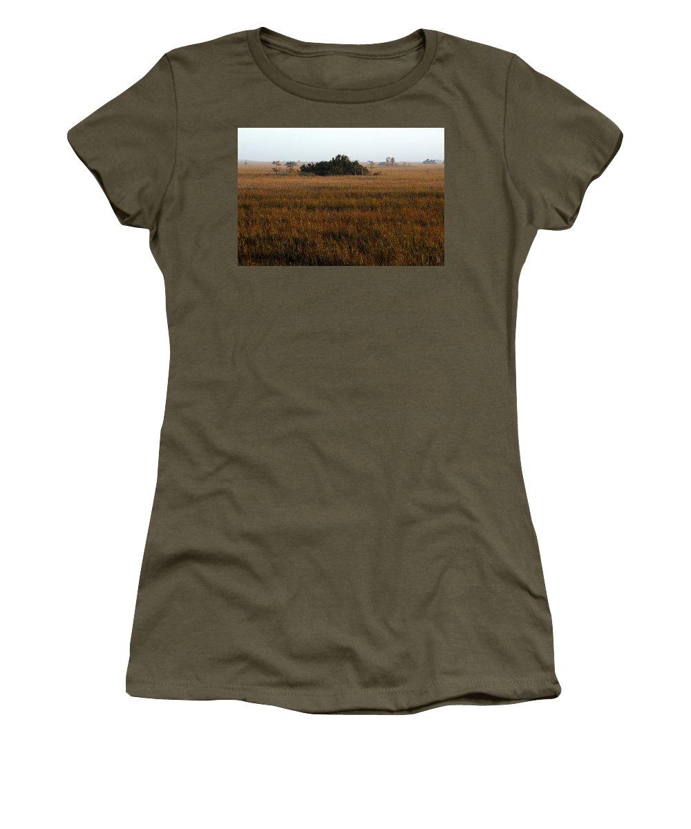 Hammock Women's T-Shirt featuring the painting Papaya Hammock by David Lee Thompson
