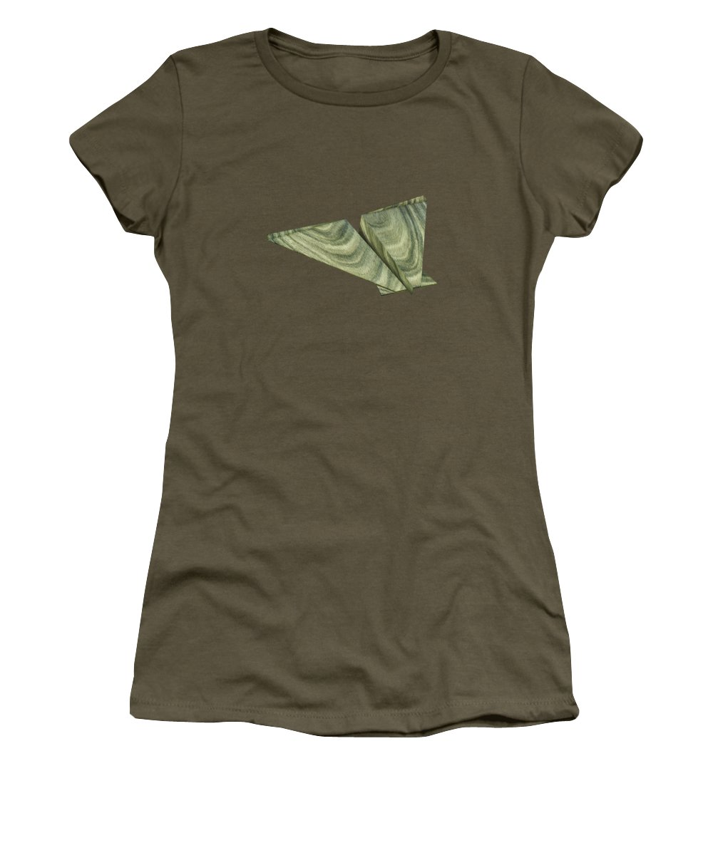 Aircraft Women's T-Shirt featuring the photograph Paper Airplanes Of Wood 19 by YoPedro