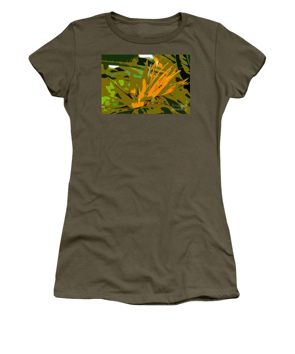 Paradise Women's T-Shirt (Athletic Fit) featuring the photograph Paradise Work Number 9 by David Lee Thompson