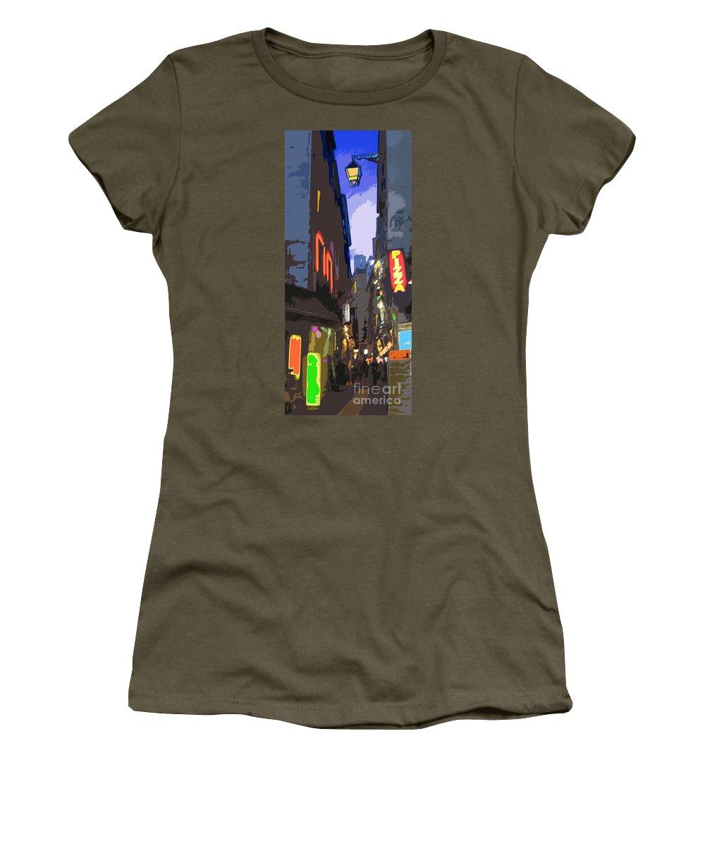 Paris Women's T-Shirt featuring the photograph Paris Quartier Latin 01 by Yuriy Shevchuk