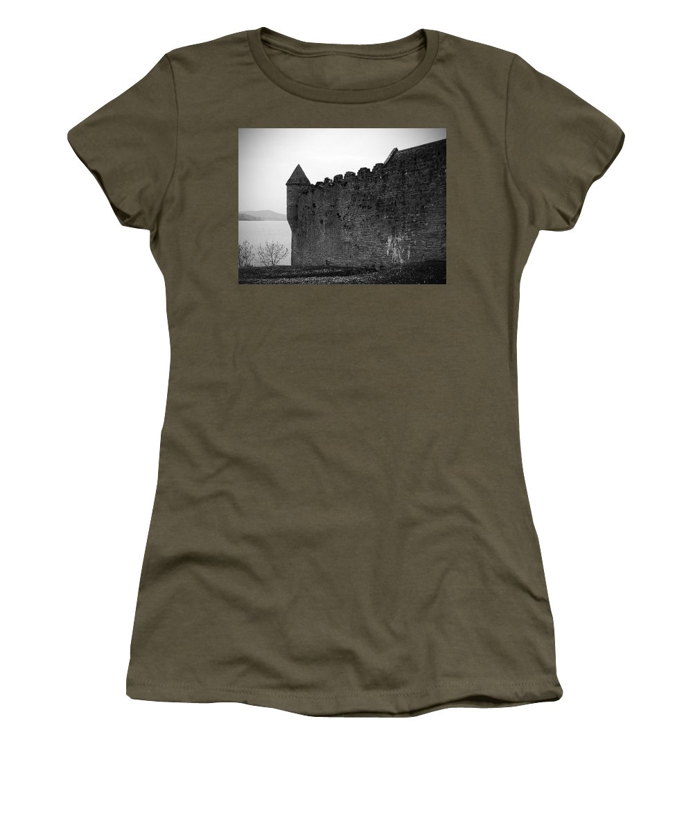 Ireland Women's T-Shirt (Athletic Fit) featuring the photograph Parkes Castle County Leitrim Ireland by Teresa Mucha