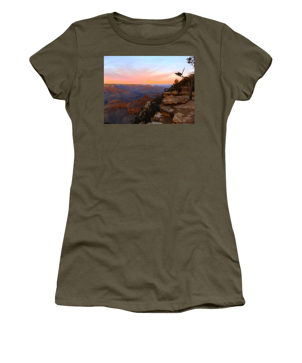 Women's T-Shirt (Athletic Fit) featuring the photograph Pastel Point by Adam Cornelison