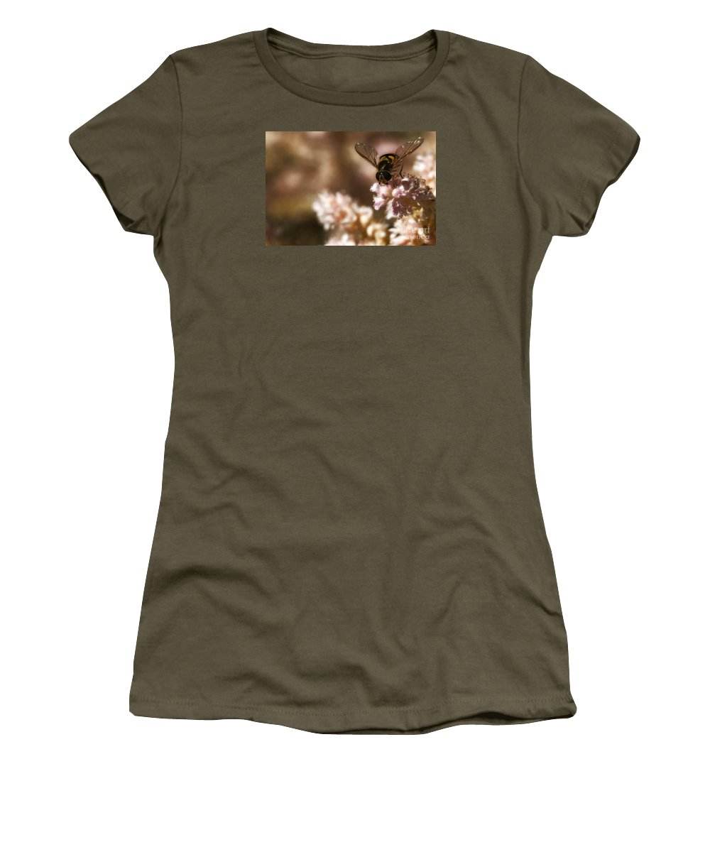 Flower Women's T-Shirt (Athletic Fit) featuring the photograph Pastels Delight by Linda Shafer