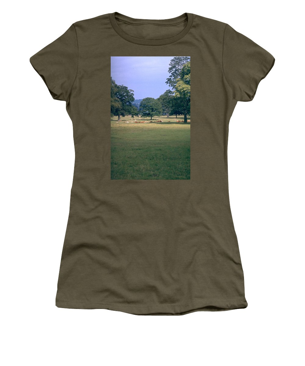 Great Britain Women's T-Shirt (Athletic Fit) featuring the photograph Pasture by Flavia Westerwelle
